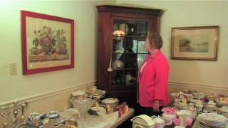 Lot 69 - Antique Solid Wood Corner Cabinet With Glass Door