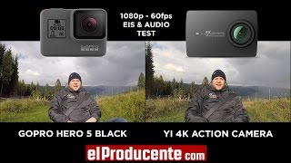 Comparison of gopro hero5 black & yi 4k action camera shot in 1080p with 60fps image stabilization on. incl. audio test more info: http://elproducente.com/...