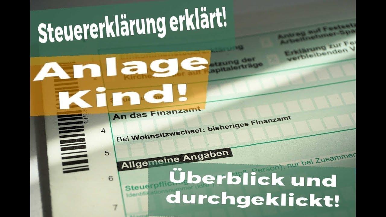 Antrag auf lohnsteuerermäßigung anlage kinder ...