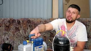 Школа Холодильщика!!! / Ваккумный насос своими руками??? / Ремонт Холодильника