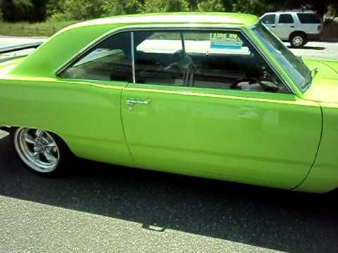 1973 Dogde Dart 318 17 Inch Wheels Pro Touring Lime Green