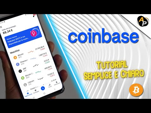 Tutorial COINBASE Come Funziona: Comprare Vendere Cambiare Wallet Bitcoin Criptovalute 2020