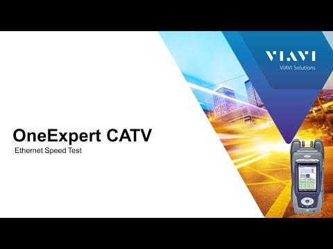 VIAVI OneExpert CATV: Ethernet Speed Test