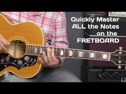 How To Master All The Notes on the Fretboard - Guitar Lesson