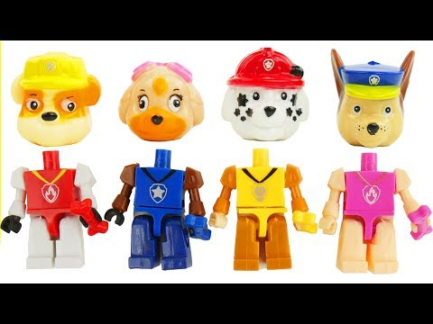 Learn Colors with Mickey Mouse and Paw Patrol Legos Skye & Chase Wrong Heads - Sparkle Spice