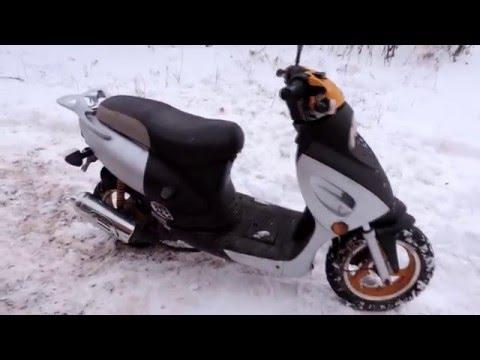 Обкатка поршневой двухтактного скутера Скутеры