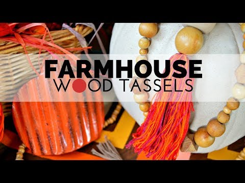 How to Make Farmhouse Wood and Thread Tassels