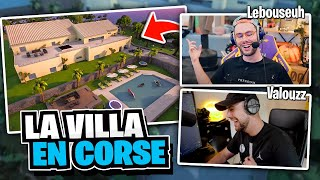 Visite de la Villa des Croûtons en Corse avec Lebouseuh sur Fortnite Créatif !