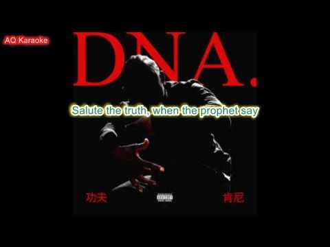 DNA - Kendrick Lamar karaoke lyrics no vocals instrumental
