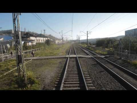 Прибытие на станцию Мурманск (вид с хвоста)