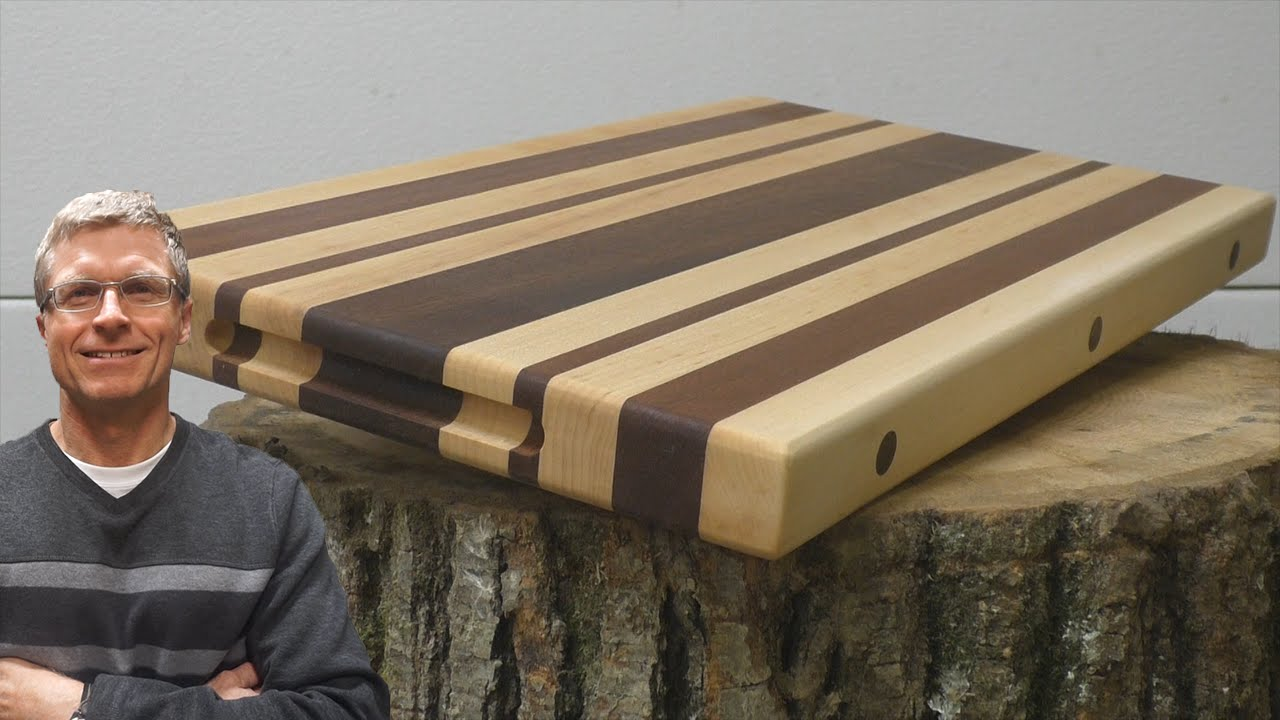 How To Make An Edge Grain Cutting Board Youtube