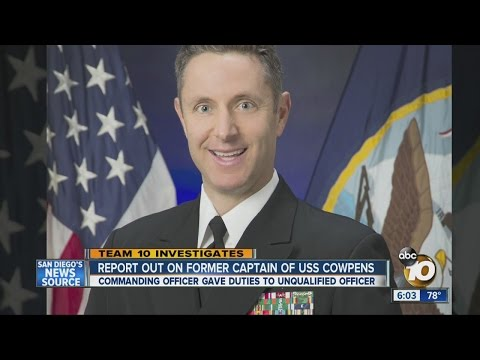 Report out on former captain of USS Cowpens