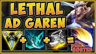 ABUSE THIS LETHAL GAREN BUILD BEFORE THE NERFS HIT! GAREN SEASON 9 TOP GAMEPLAY! - League of Legends