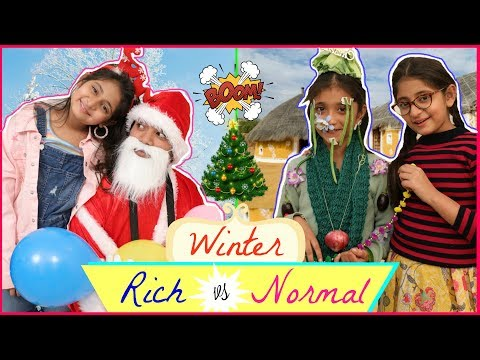 KIDS In WINTERS - Rich vs Normal | Bloopers | #Fun #NewYear #Roleplay #Anaysa #MyMissAnand