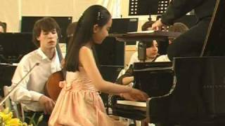 Aika Dan (段あいか) plays Mozart Piano concerto No.12 K.414 in St.P...