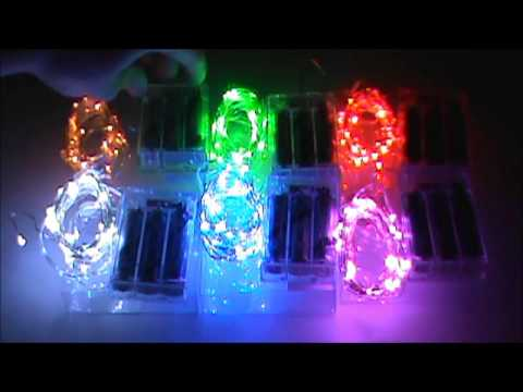 Battery powered led mini lights great for light up crafts for Led craft lights battery