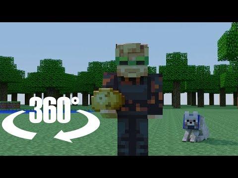 You're PewDiePie's New Minecraft Pet In 360/VR