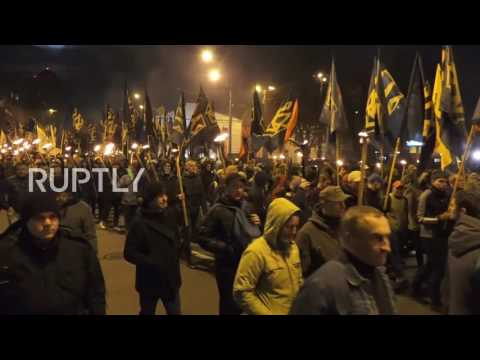 Ukraine: Thousands of nationalists march on 74th anniv. of UPA founding