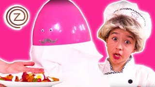 PRINCESS COOKS FOR MR ZUZAA 🍳 Zuzaachef: Episode 2 🍳 - Princesses In Real Life - Kiddyzuzaa