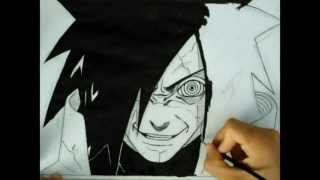 Speed drawing Uchiha Madara Edo Tensei -Naruto-