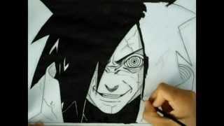 Speed drawing Uchiha Madara Edo Tensei -Naruto-