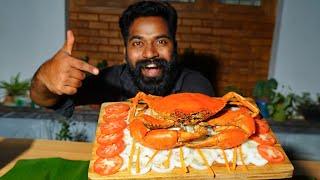 Grilled Crab Making   ഞണ്ടിനെ പച്ചനെ ചുട്ടുതിന്നപ്പോൾ   M4 Tech  