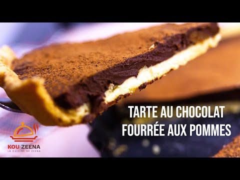 tarte-au-chocolat-fourrée-aux-pommes-♥-inratable-♥-recettes-rapides-♥