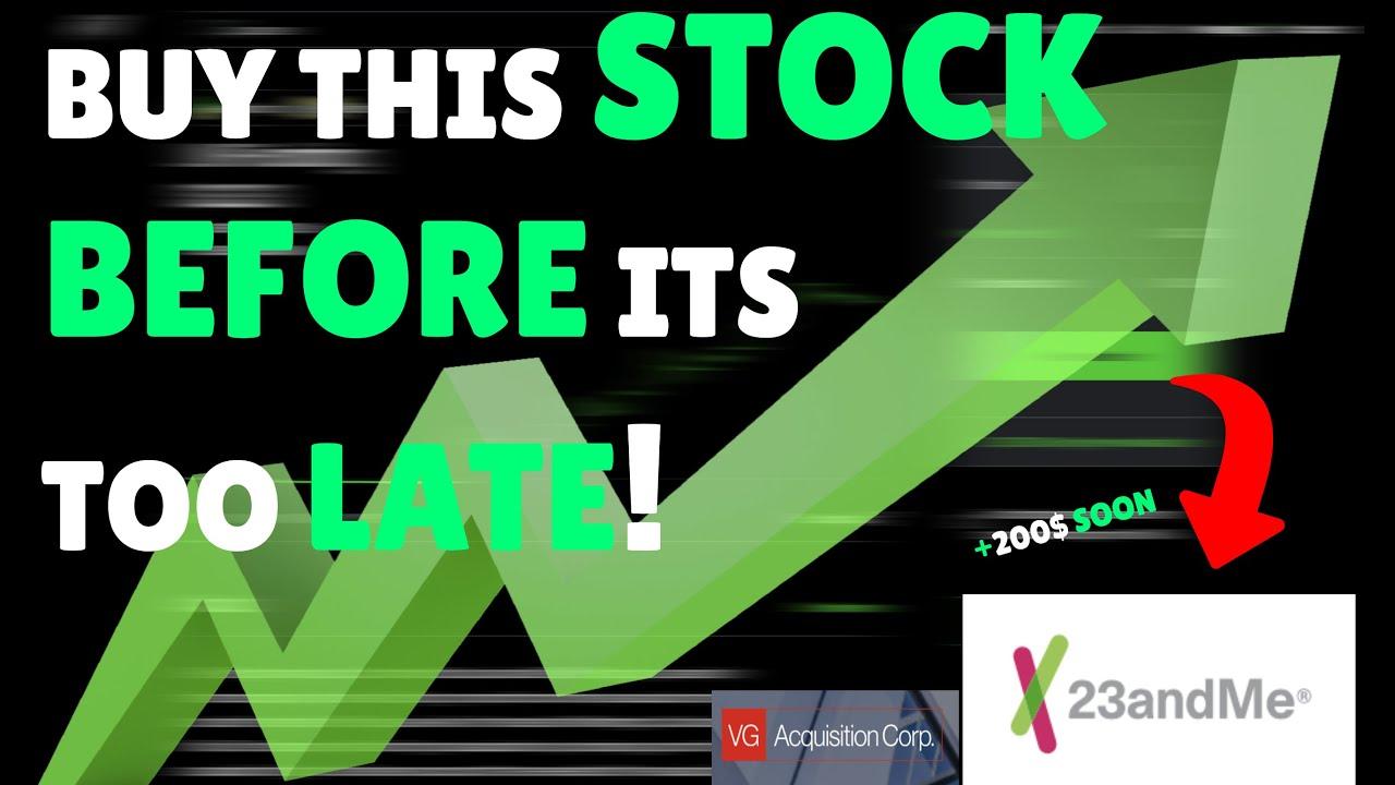 """Download BEST STOCK TO BUY NOW 2021 ! +200$ SOON 🚀   VGAC   """"23andME"""" MERGER CONFIRMED [GENOMICS STOCK]"""