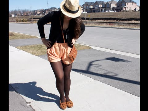 Spring Outfit Ideas Fedora Hat High Waisted Shorts Youtube
