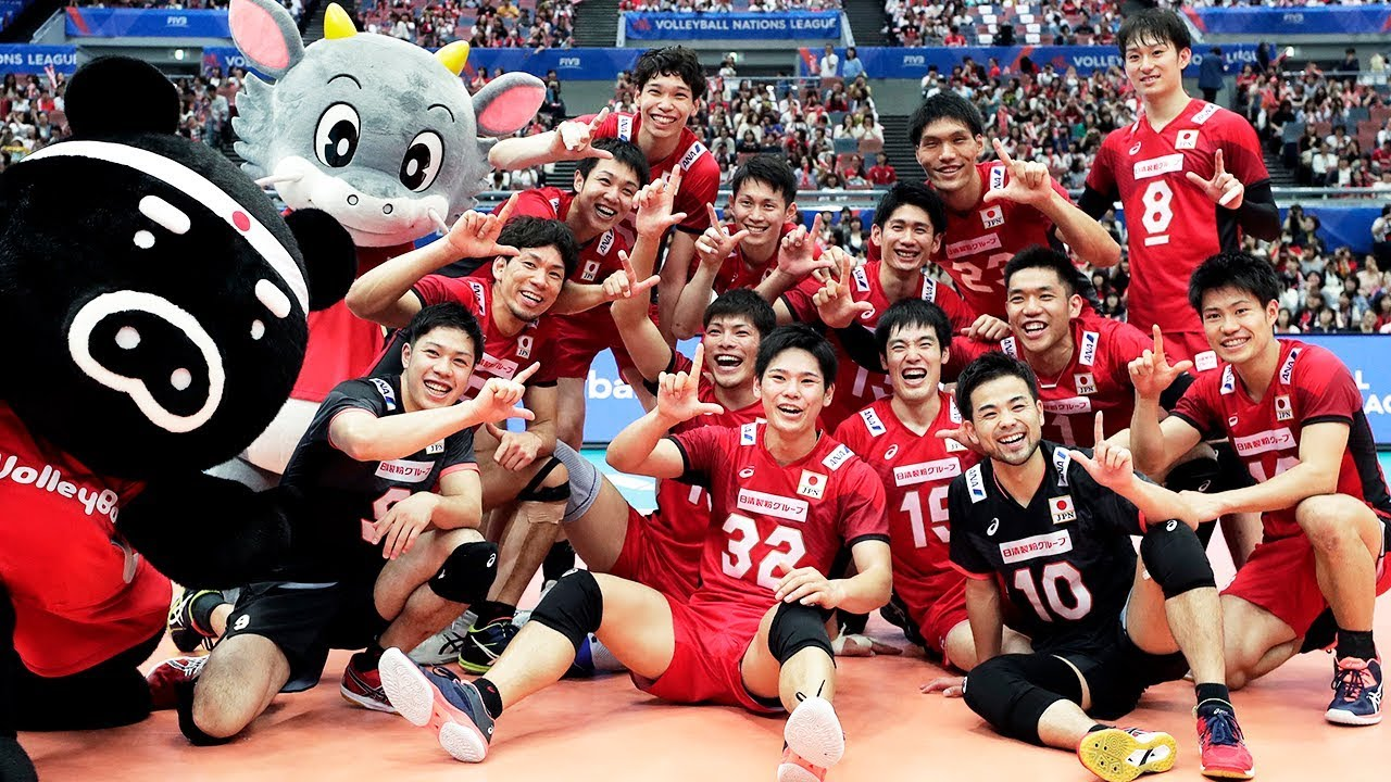 Japan National Volleyball Team Unbelievable Moments Vnl 2018 Youtube