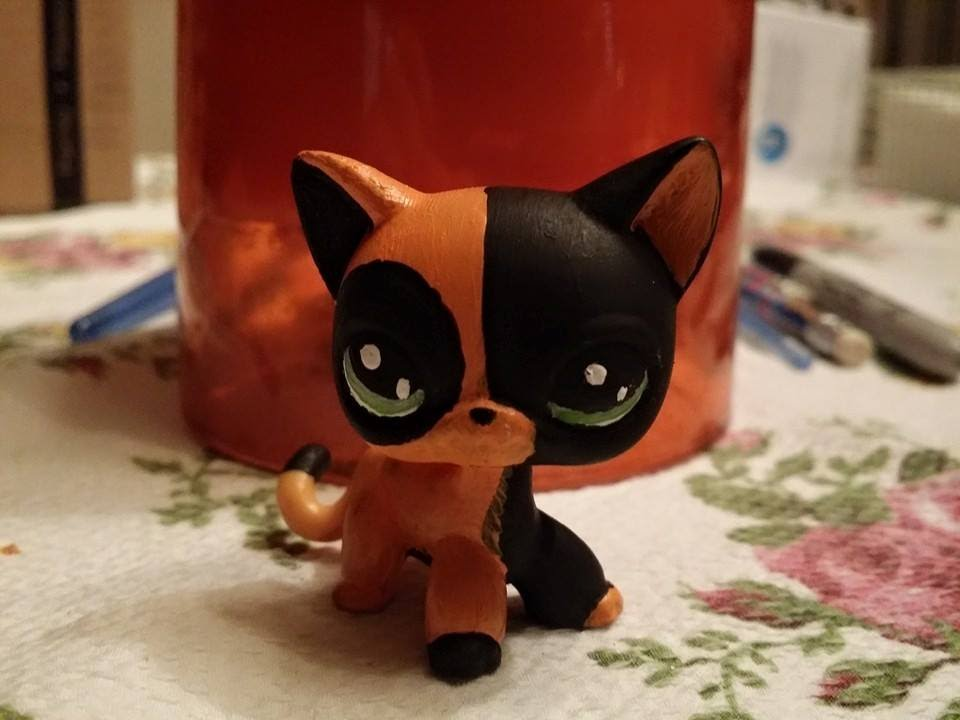 littlest pet shop lps custom cat orange and black halloween youtube