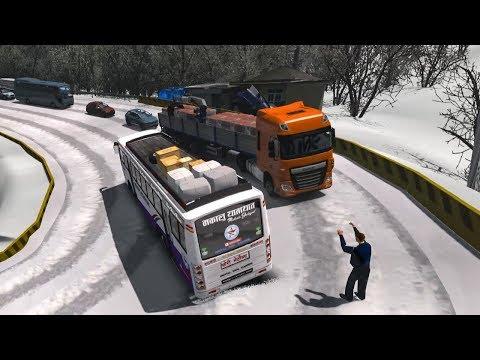 Makalu Bus on Snowy Dangerous Roads in Himalaya Nepal - ets 2 mods