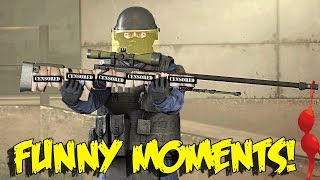 CS:GO FUNNY MOMENTS - THE LUCKIEST AWP SHOT EVER , RARE NEW SKIN