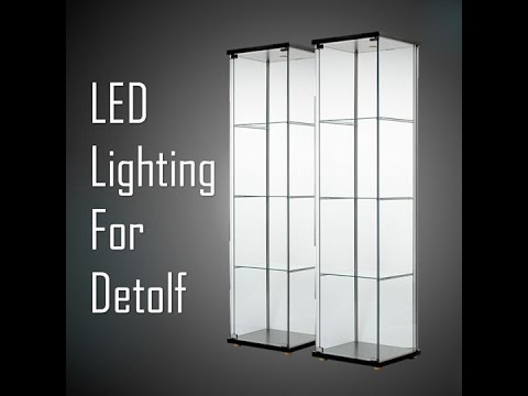 Ikea Detolf Led Lighting Youtube