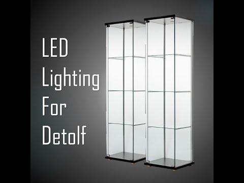 ikea detolf led lighting