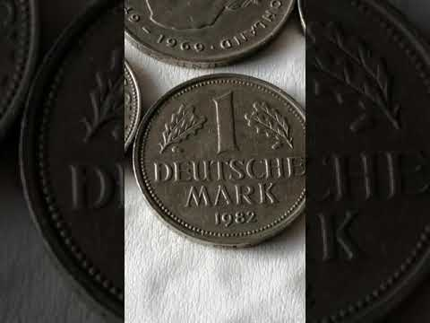 Rare.. 1,2,5 MARKS GERMAN DEUTSCHE MARK 1969,1977,1988