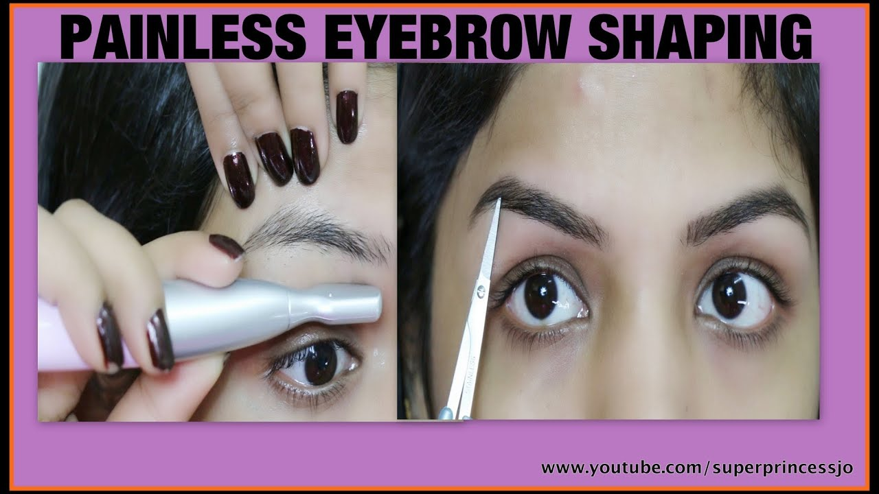 How To Shape Eyebrows Facial Hair Removal Superprincessjo Youtube