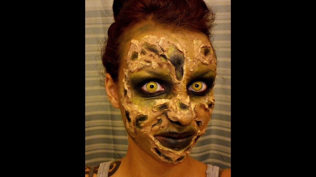Halloween Series Easy Green Monster Makeup