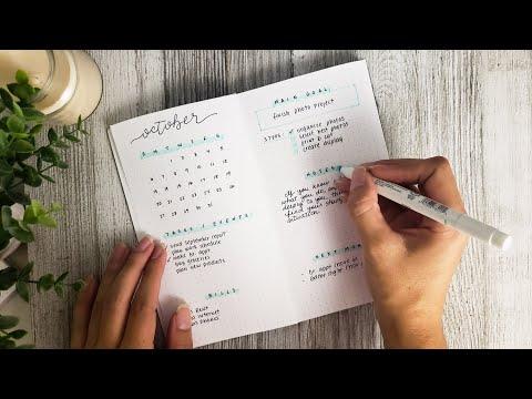 5 Minute BuJo Setup & How I Use My Spreads - October 2019 Mini Bullet Journal