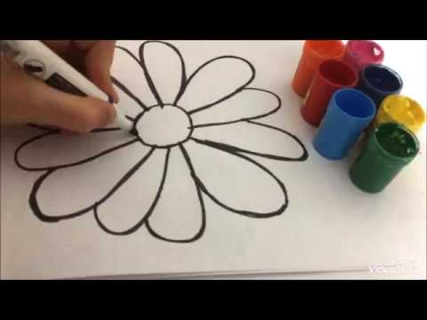 çiçek Boyamak Ister Misin Would You Like To Draw Flower Youtube