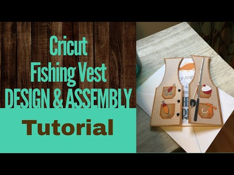Cricut Explore Air and Design Space Fishing Vest Card Tutorial