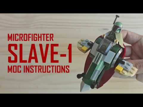 Microfighter Slave 1 Moc Instructions Lego Star Wars Youtube