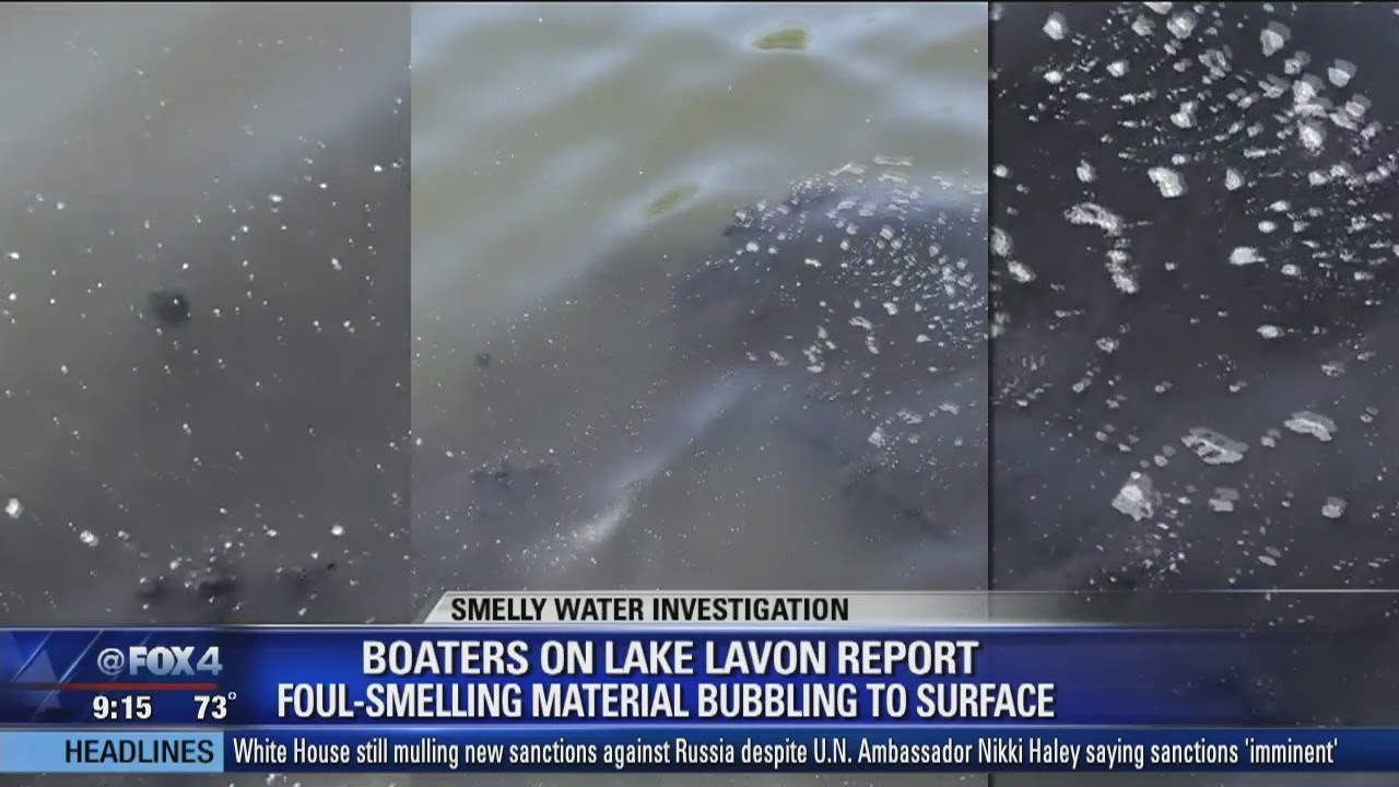 Lake Lavon boaters complain about foul smelling material in water