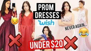 Try on: PROM DRESSES ON WISH! I made a huge mistake ...