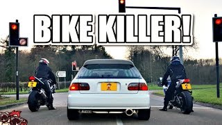 One of MONKY LONDON's most viewed videos:  BIKE KILLER! MENTAL K20 TURBO EG HONDA CIVIC REVIEW!