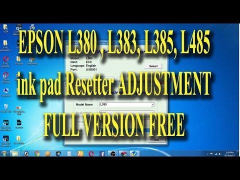EPSON L383 L385 L485 INKPAD RESETTER ADJUSTMENT PROGRAM