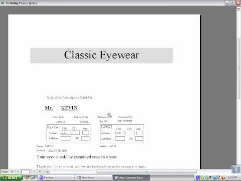 Optical Shop Software - Software for Opticians