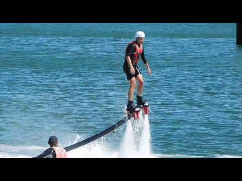 Fly boarding at Station Pier 2
