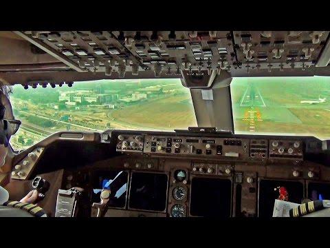Boeing 747 400 Take Off & Start Up Hong Kong w  ATC   KLM Cargo
