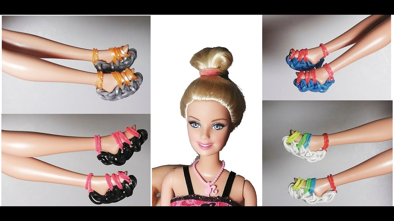 How To Make Dolls Shoes Rubber Bands With Forks Without